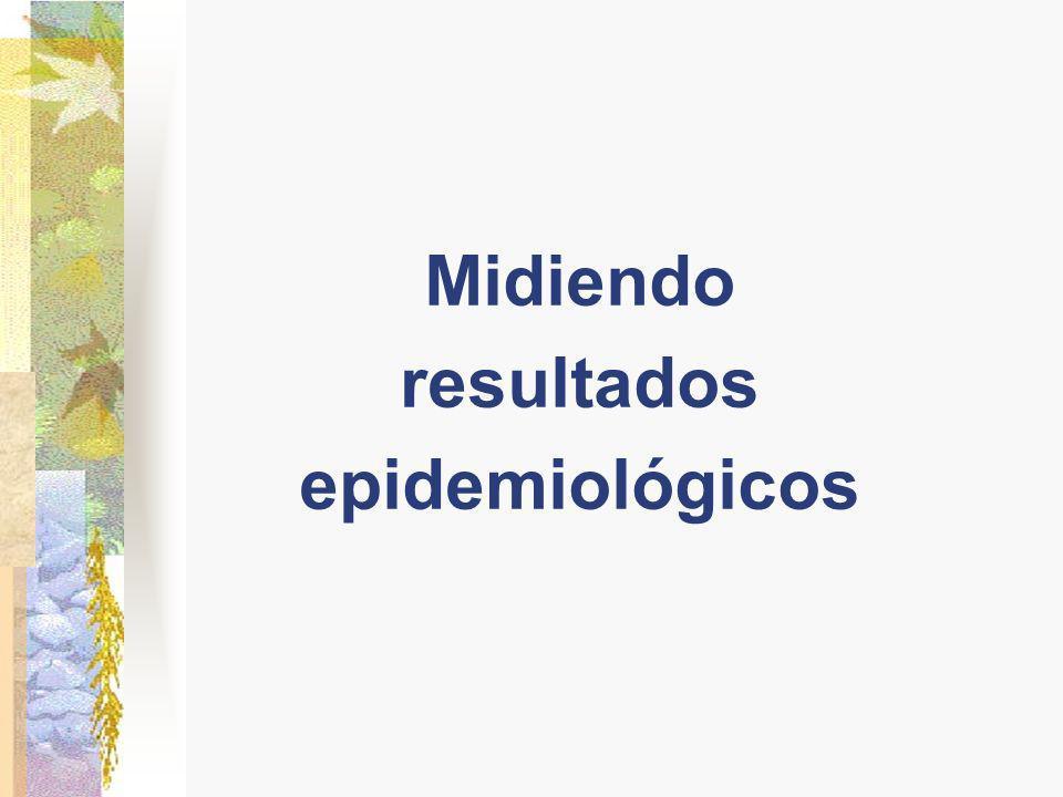Midiendo resultados epidemiológicos