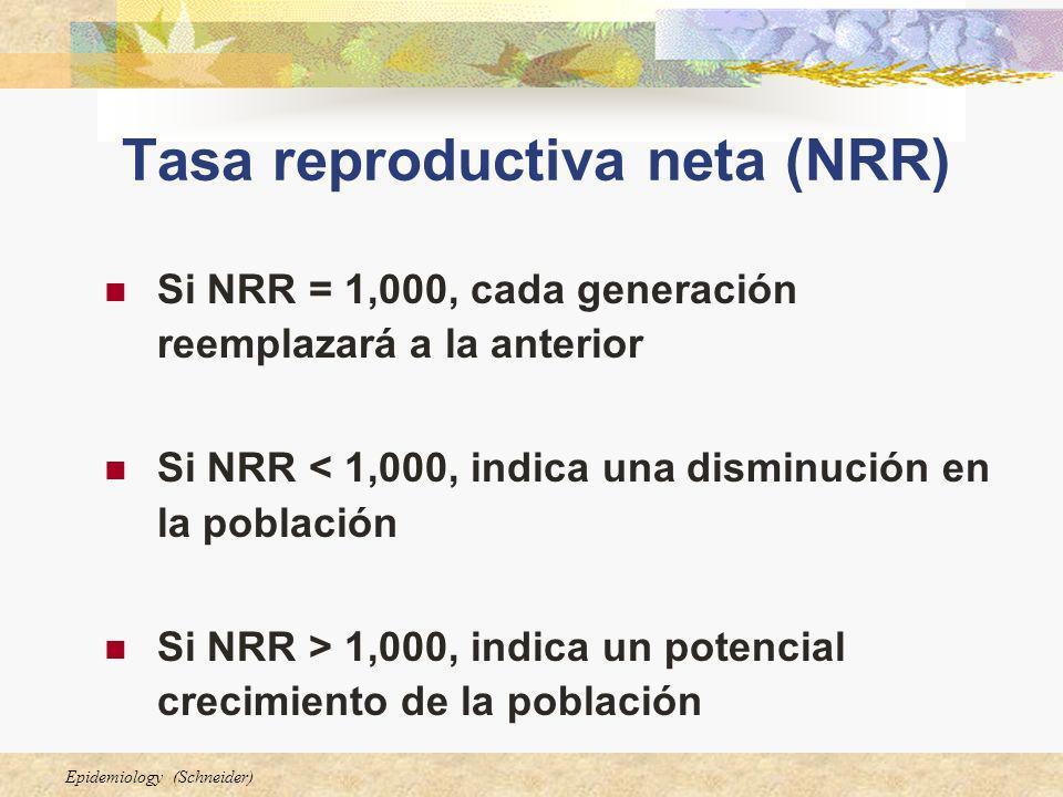 Tasa reproductiva neta (NRR)