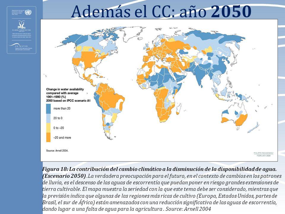 Además el CC: año 2050