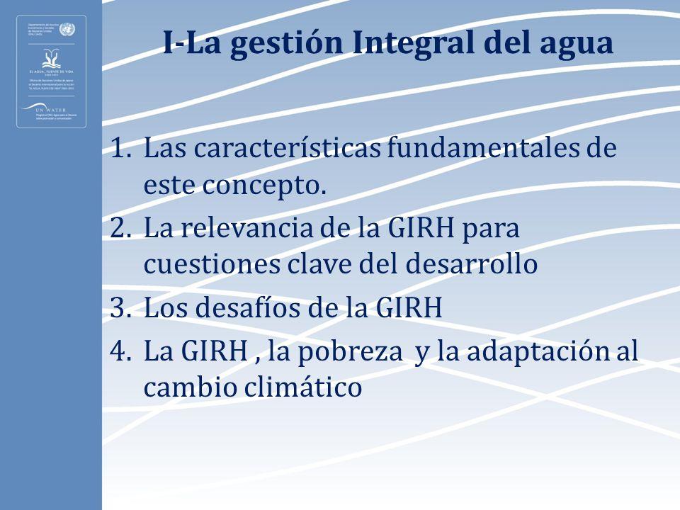 I-La gestión Integral del agua
