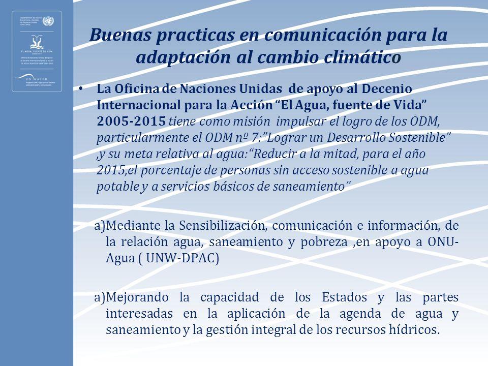Buenas practicas en comunicación para la adaptación al cambio climático