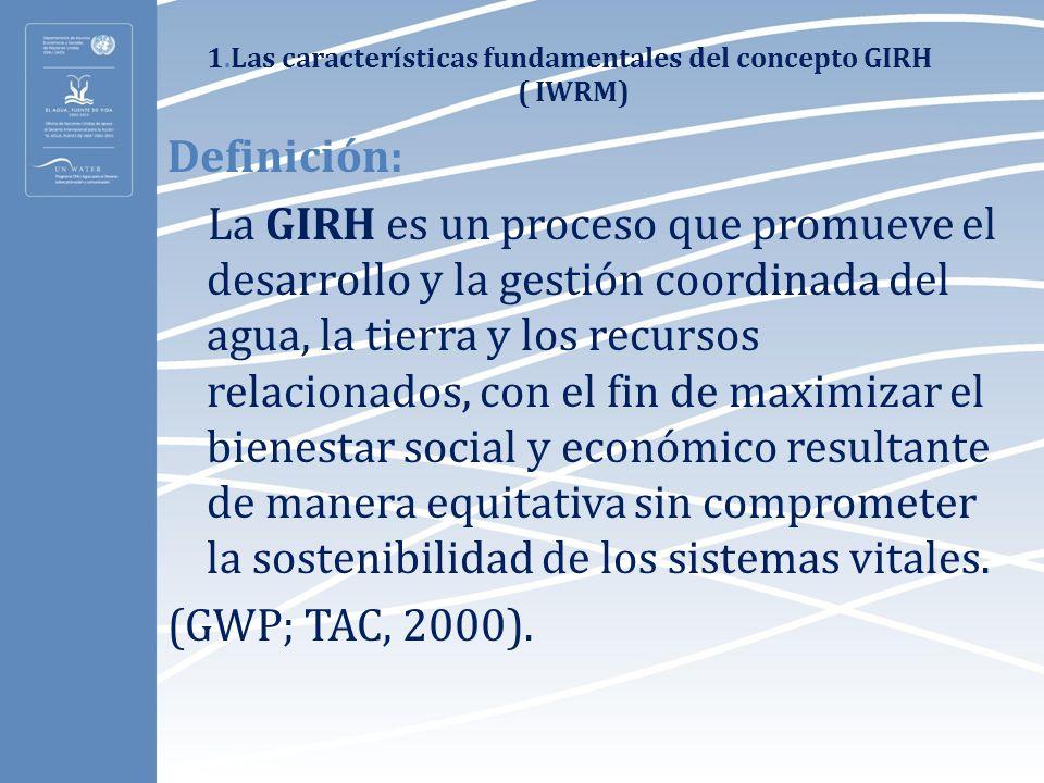 1.Las características fundamentales del concepto GIRH ( IWRM)