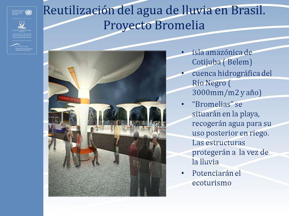 Reutilización del agua de lluvia en Brasil. Proyecto Bromelia