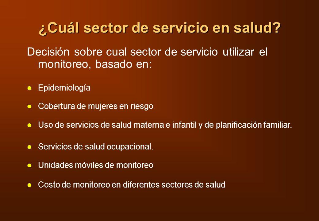 ¿Cuál sector de servicio en salud