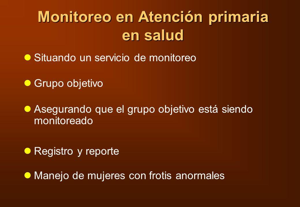 Monitoreo en Atención primaria en salud