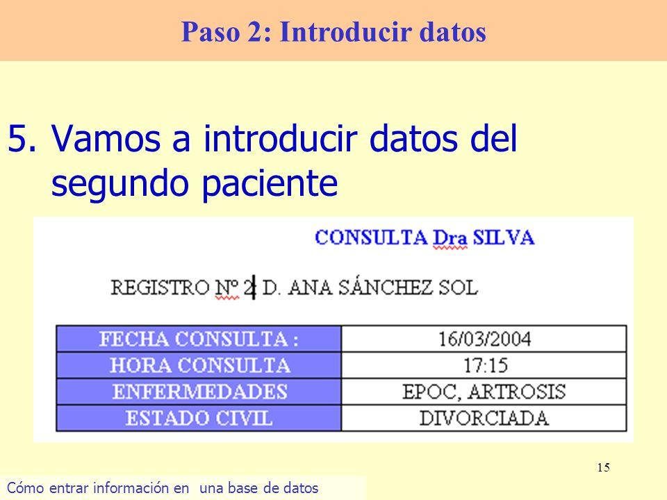 Paso 2: Introducir datos