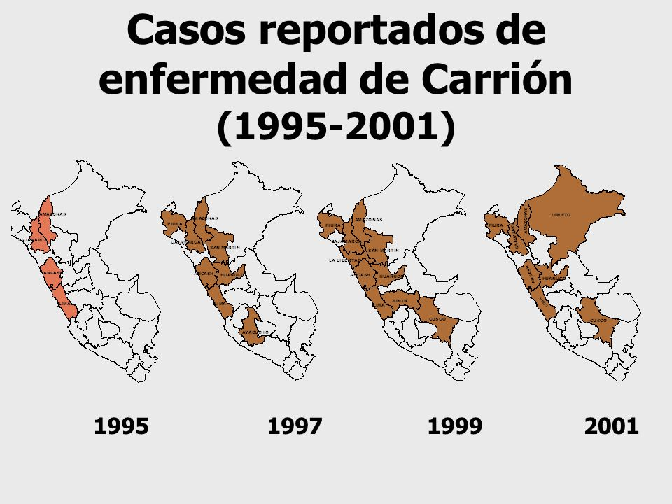 Casos reportados de enfermedad de Carrión
