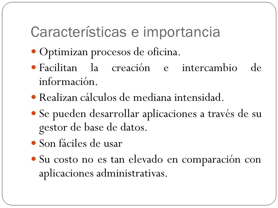 Suite ofim tica o de oficina ppt descargar for Importancia de la oficina