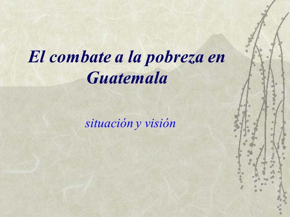 El combate a la pobreza en Guatemala