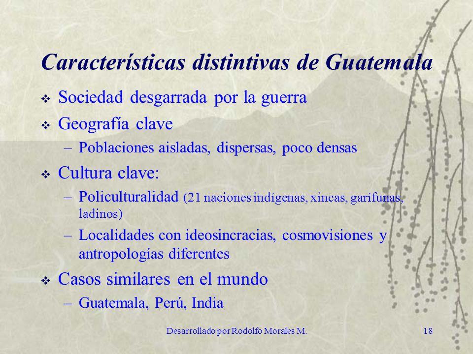 Características distintivas de Guatemala