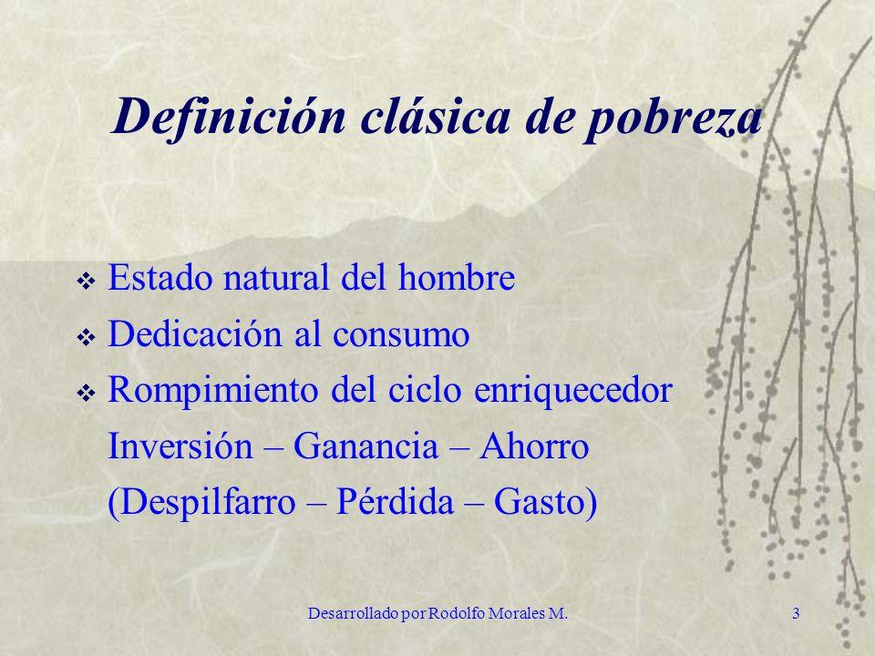 Definición clásica de pobreza