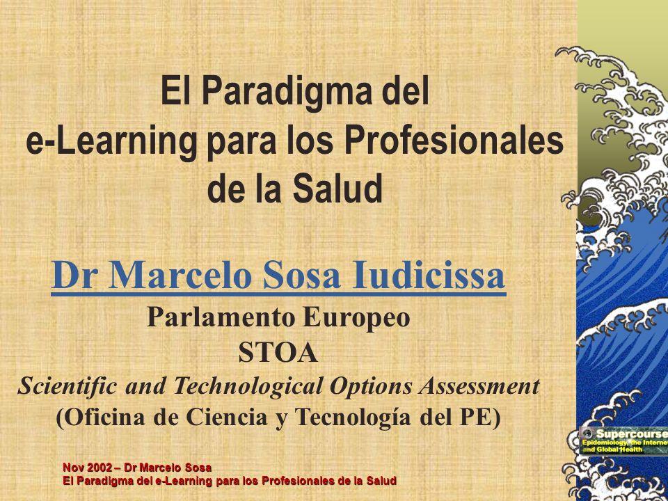 El Paradigma del e-Learning para los Profesionales de la Salud