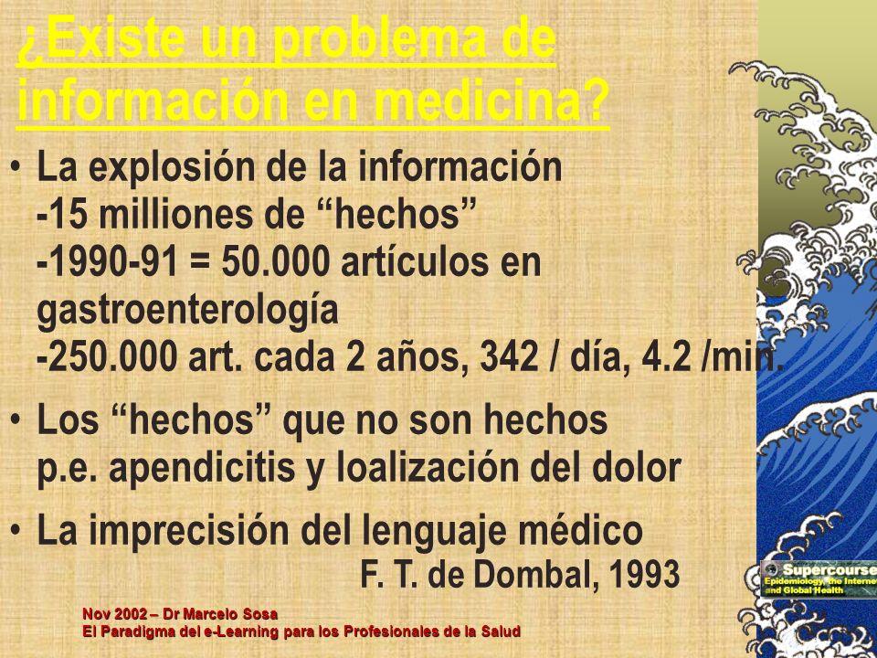 ¿Existe un problema de información en medicina