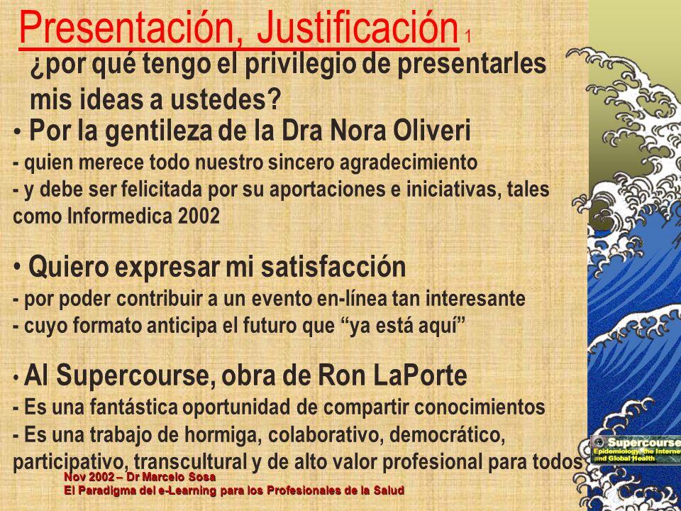 Presentación, Justificación 1