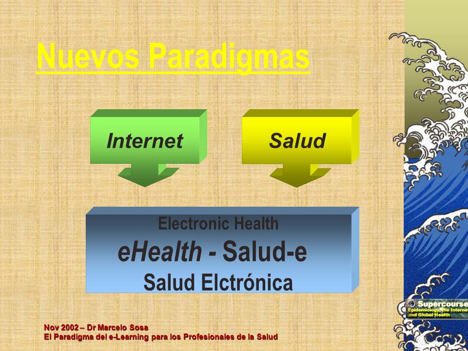 Nuevos Paradigmas eHealth - Salud-e Salud Elctrónica Internet Salud