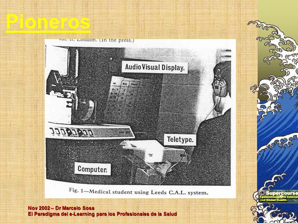 Pioneros Nov 2002 – Dr Marcelo Sosa El Paradigma del e-Learning para los Profesionales de la Salud