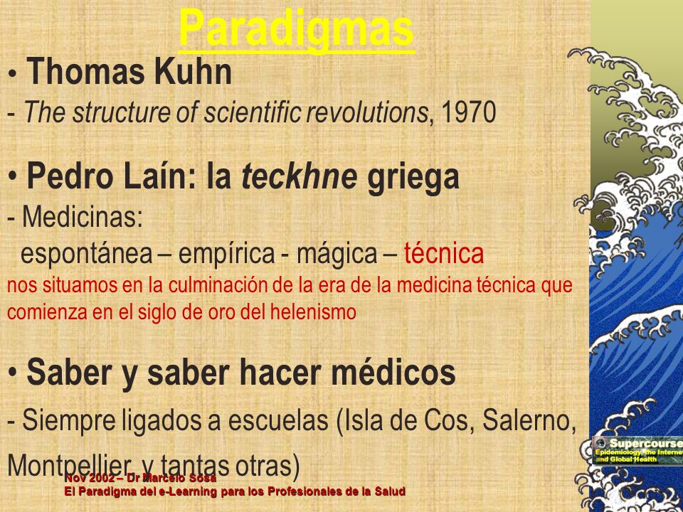 Paradigmas Thomas Kuhn - The structure of scientific revolutions, 1970.