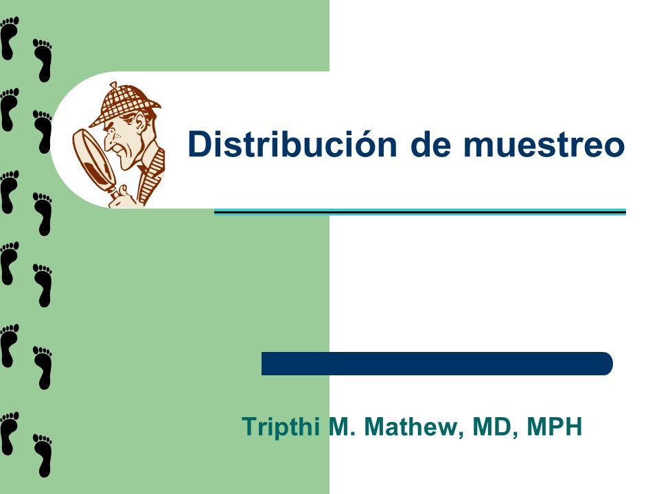 Distribución de muestreo