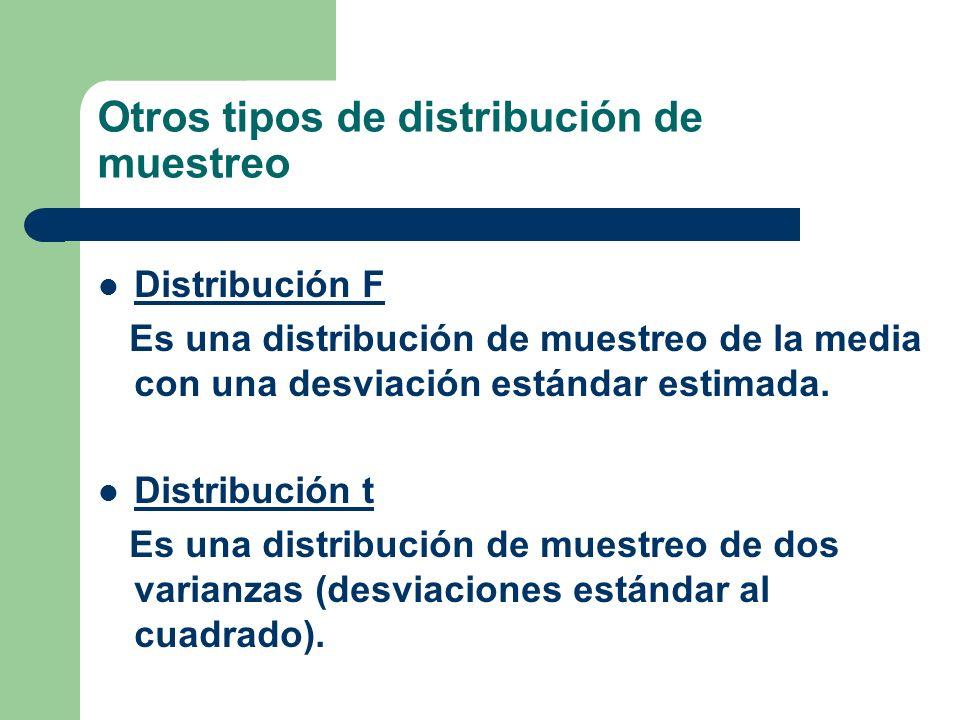 Otros tipos de distribución de muestreo
