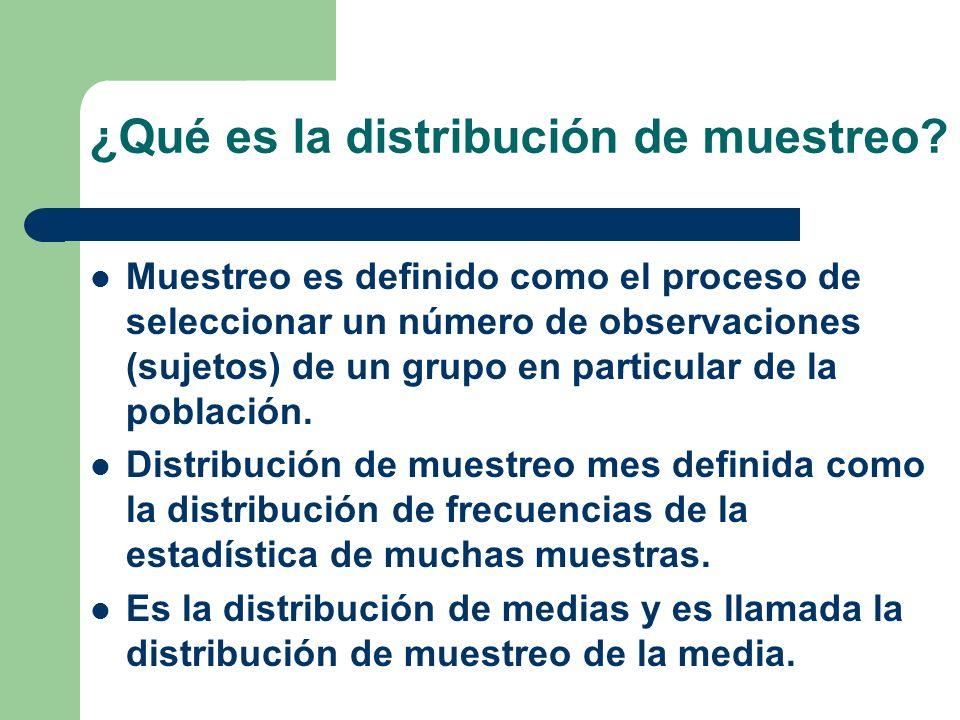 ¿Qué es la distribución de muestreo
