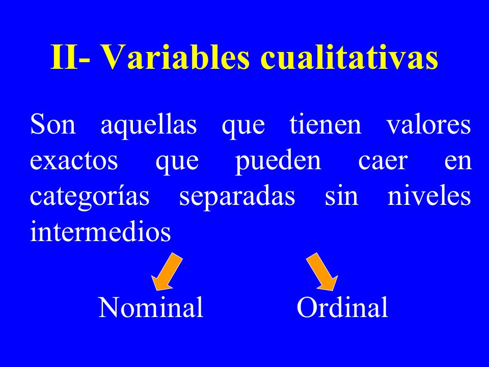 II- Variables cualitativas