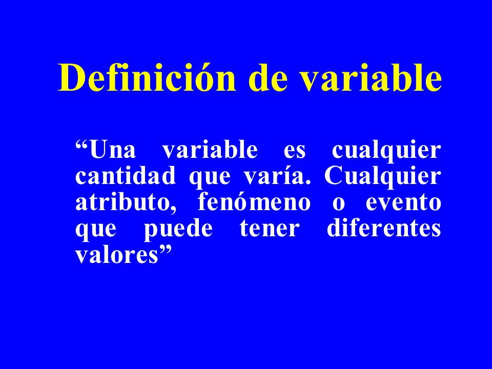 Definición de variable