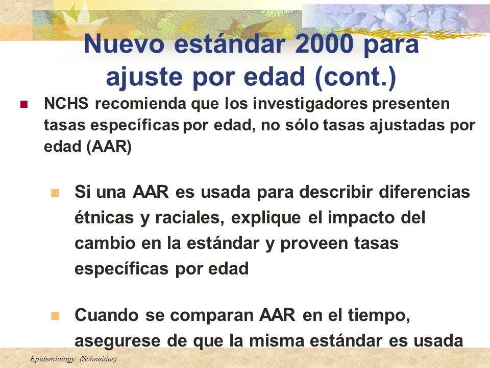 Nuevo estándar 2000 para ajuste por edad (cont.)