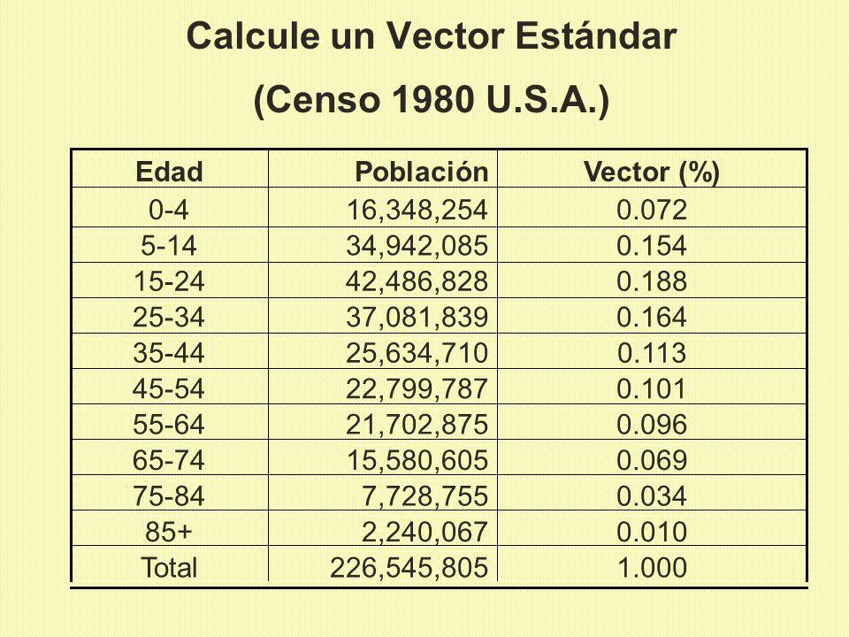 Calcule un Vector Estándar