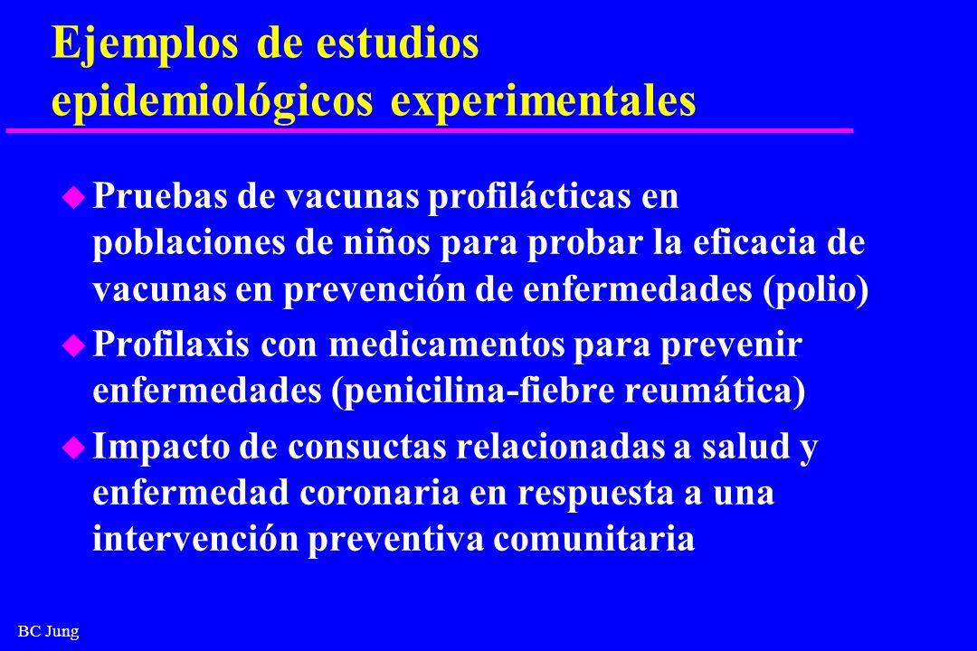 Ejemplos de estudios epidemiológicos experimentales