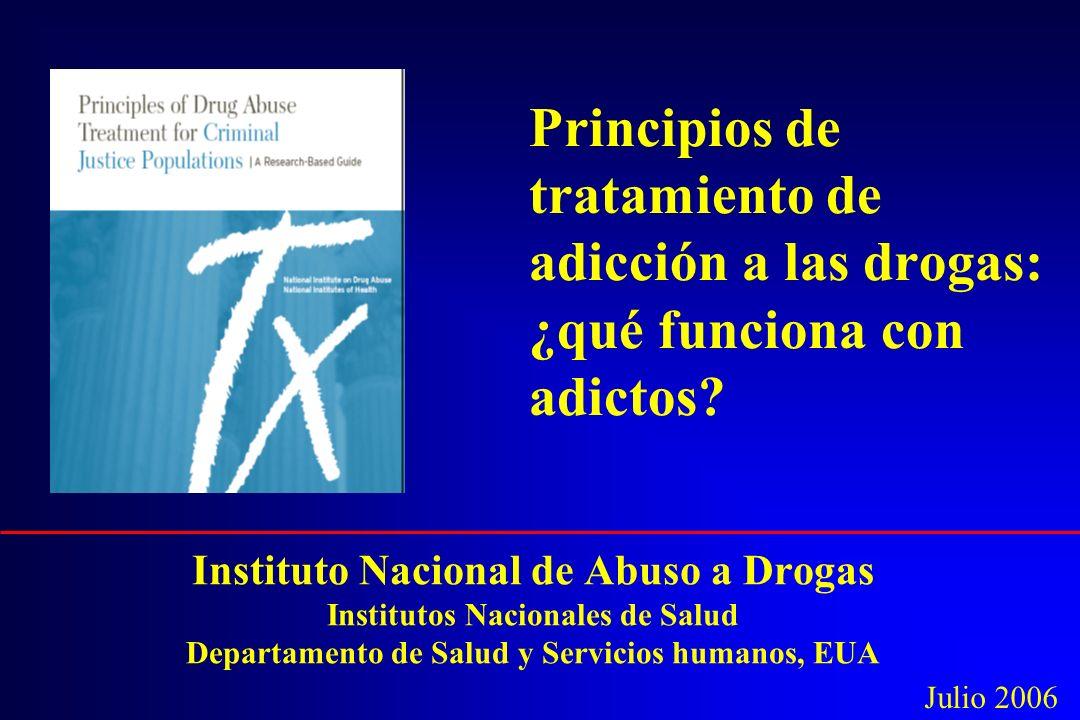 Principios de tratamiento de adicción a las drogas: ¿qué funciona con adictos