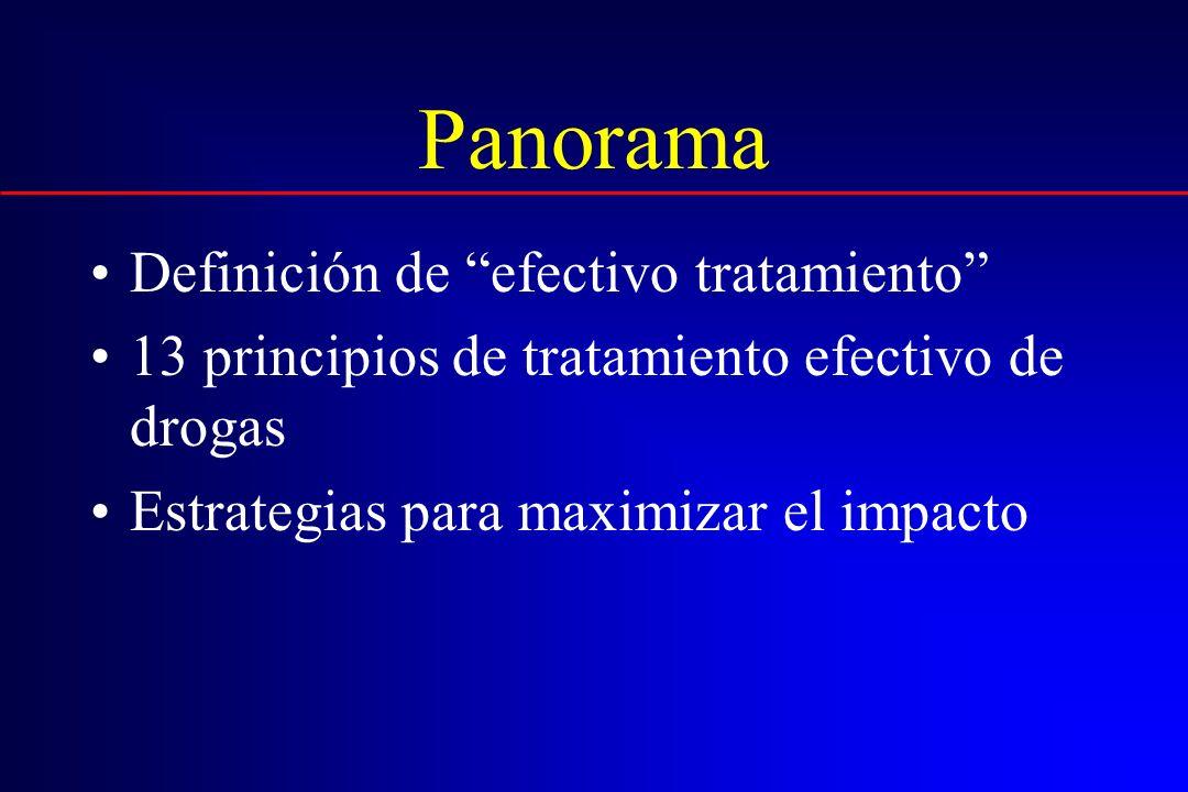 Panorama Definición de efectivo tratamiento