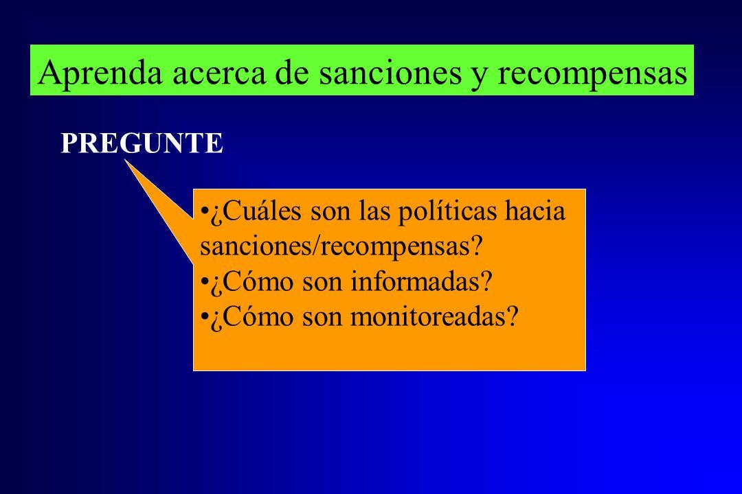 Aprenda acerca de sanciones y recompensas