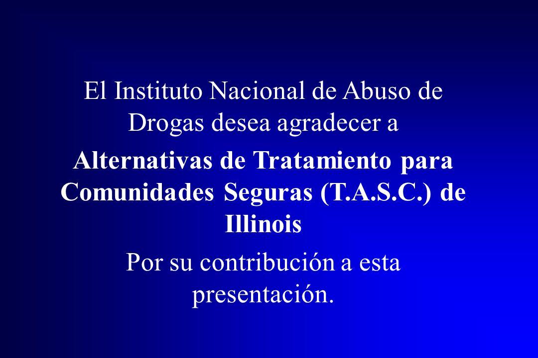 El Instituto Nacional de Abuso de Drogas desea agradecer a