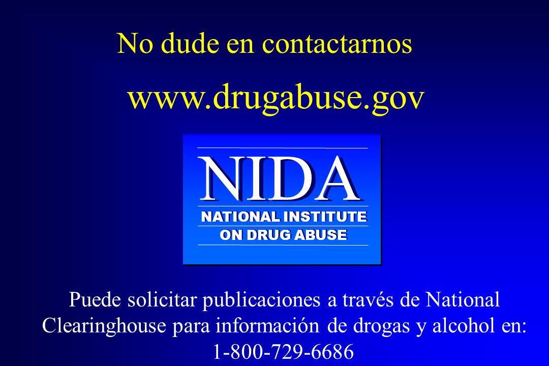NIDA www.drugabuse.gov No dude en contactarnos