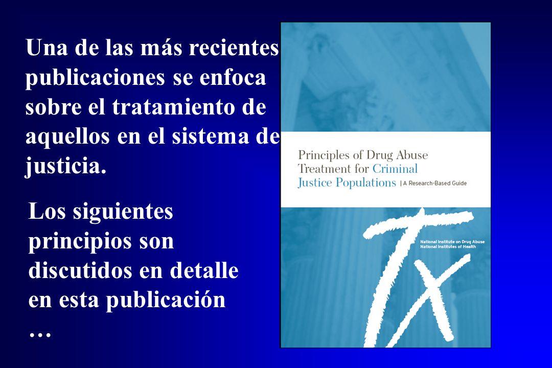 Una de las más recientes publicaciones se enfoca sobre el tratamiento de aquellos en el sistema de justicia.