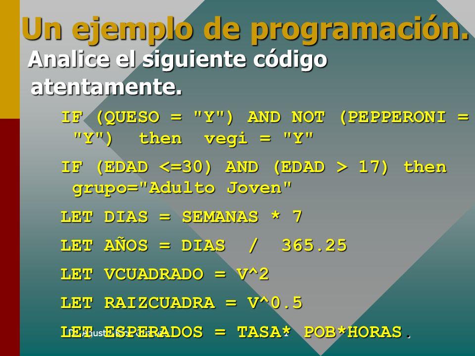 Un ejemplo de programación.
