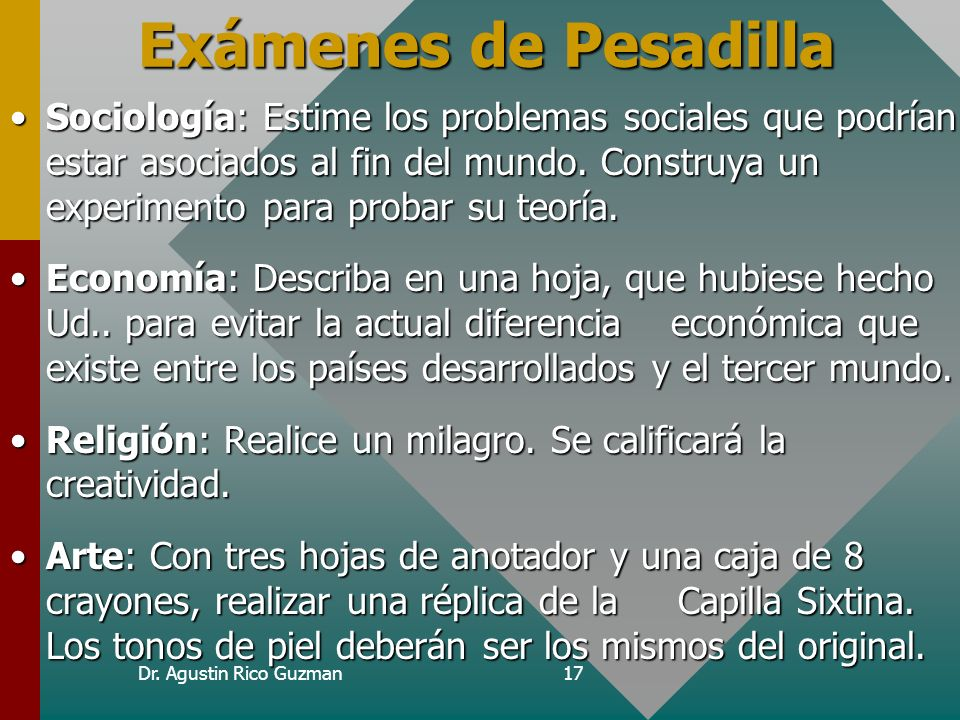 Curso de Epi-Info Exámenes de Pesadilla.