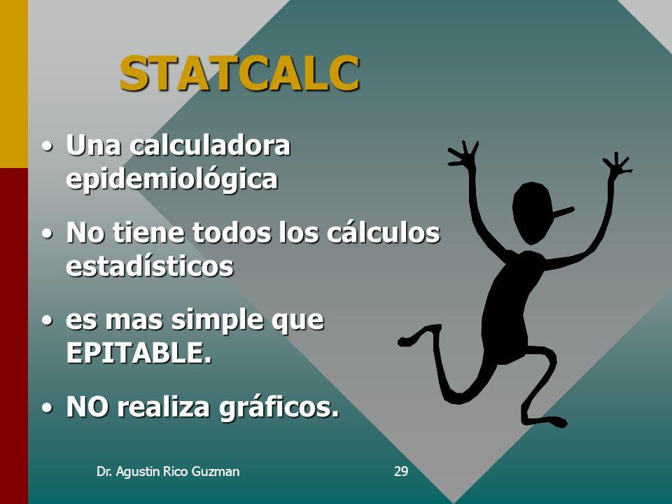 STATCALC Una calculadora epidemiológica