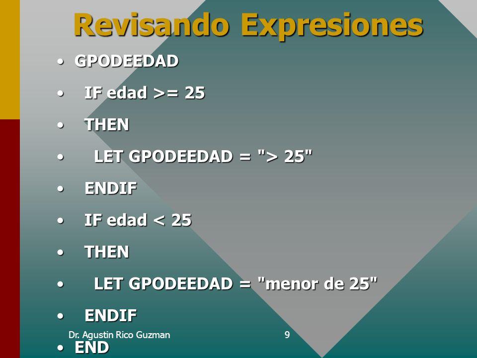 Revisando Expresiones