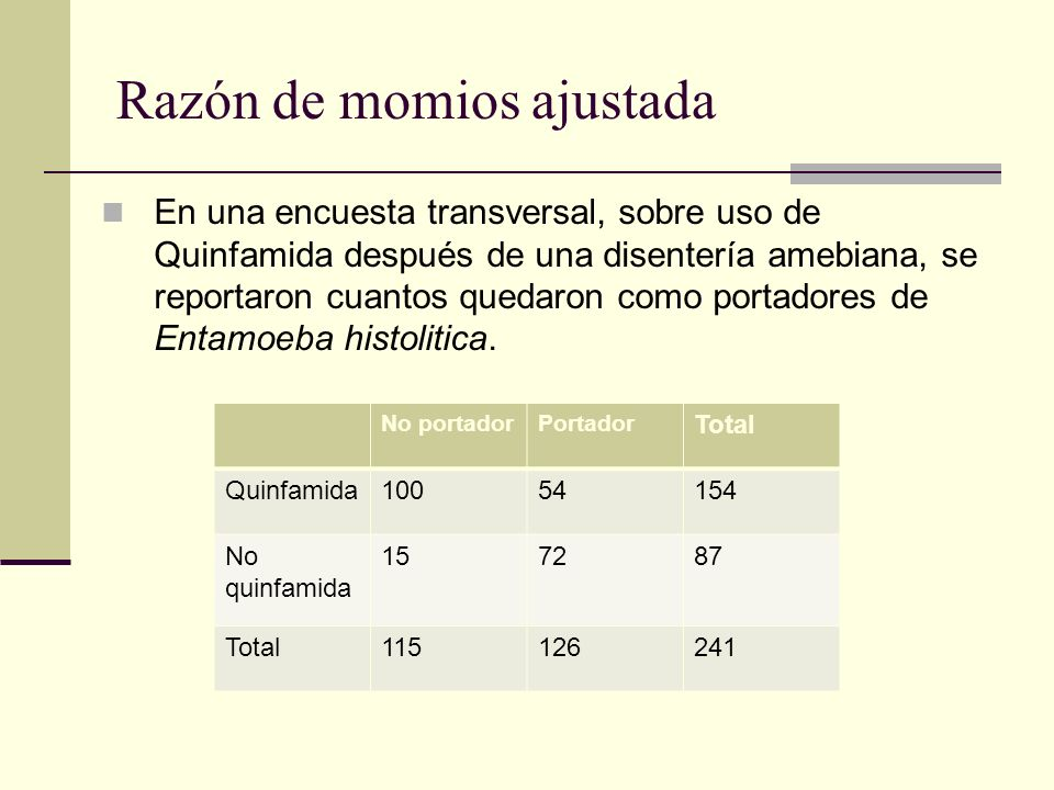 Razón de momios ajustada