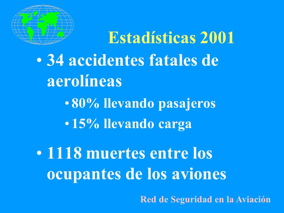 34 accidentes fatales de aerolíneas