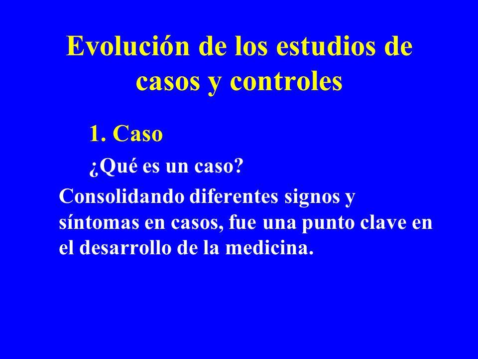 Evolución de los estudios de casos y controles