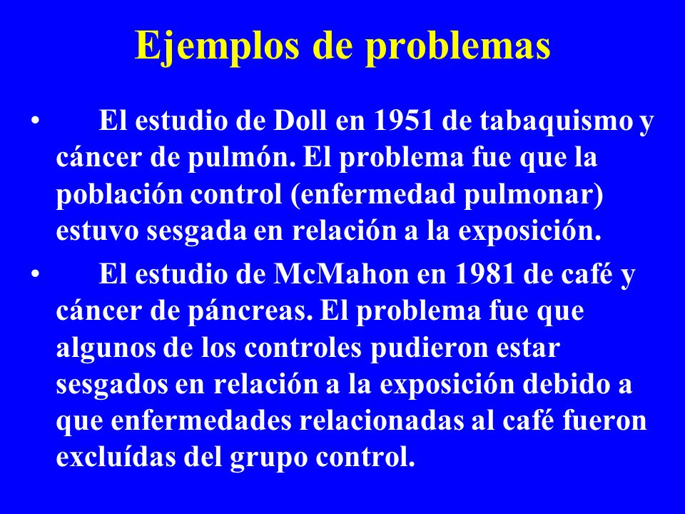 Ejemplos de problemas