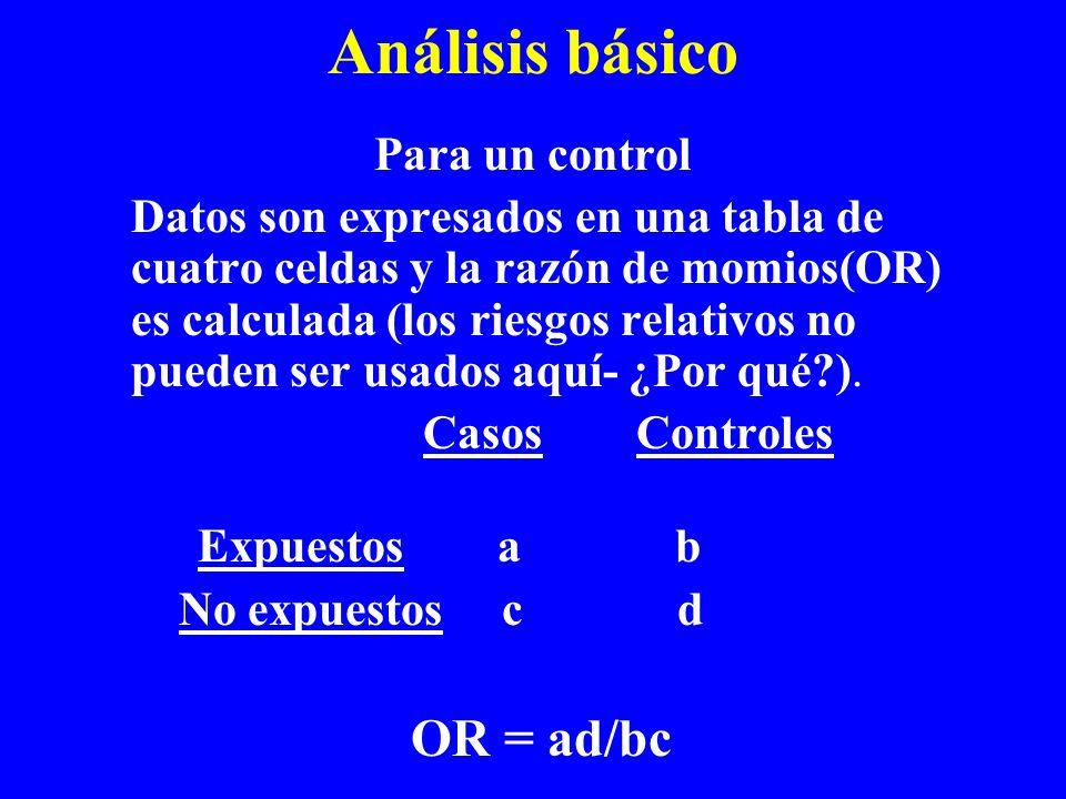 Análisis básico Para un control