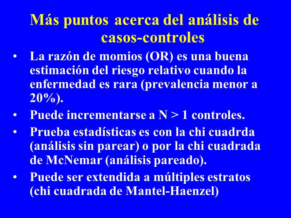 Más puntos acerca del análisis de casos-controles