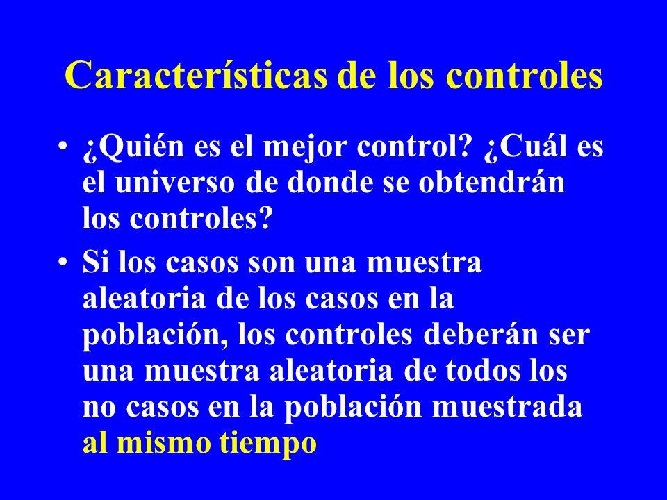 Características de los controles