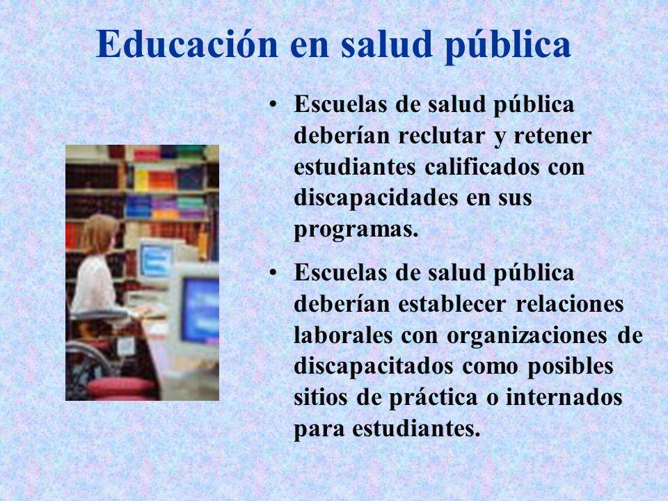 Educación en salud pública