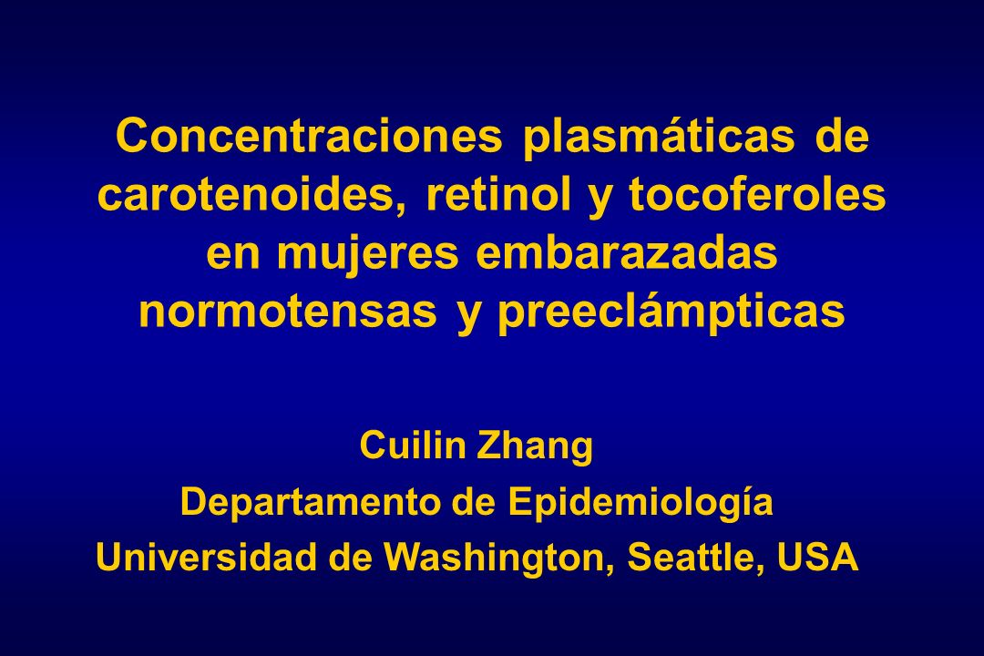 Departamento de Epidemiología Universidad de Washington, Seattle, USA