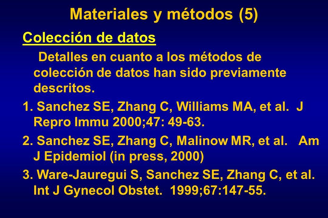 Materiales y métodos (5)