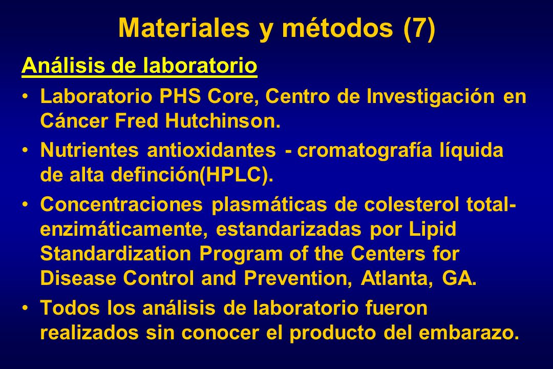 Materiales y métodos (7)